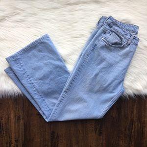 Zara Light Wash Flare  High Waisted Jeans Size 10